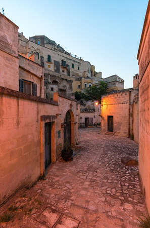 Matera, Italy - 3 June 2017 - The historic center of the beautiful stone city of southern Italy, a tourist attraction for the famous Sassi, designated European Capital of Culture for 2019. Editorial