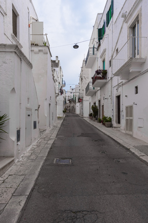 wine trade: Locorotondo (Apulia, Italy) - The gorgeous white town in the province of Bari, selected among the top 10 most beautiful villages in Southern Italy Stock Photo