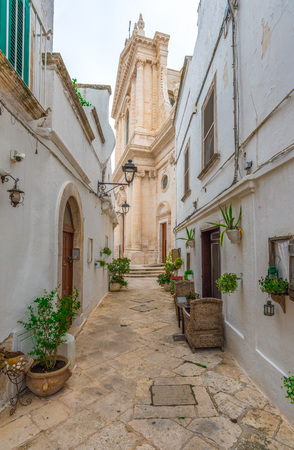 Locorotondo, Italy - 2 June 2017 - The gorgeous white town in the province of Bari, selected among the top 10 most beautiful villages in Southern Italy