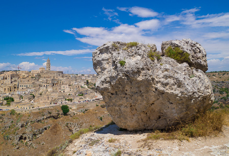 lucania: Matera (Basilicata) - The historic center of the beautiful stone town of southern Italy, a tourist attraction for the famous Sassi, designated European Capital of Culture for 2019. Stock Photo