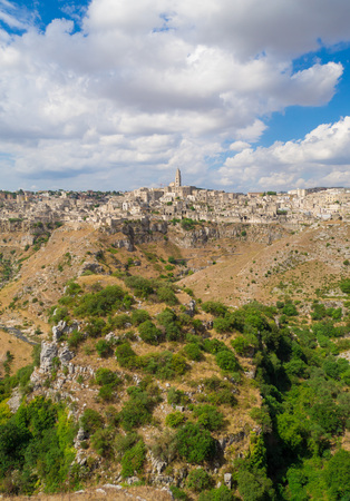 Matera (Basilicata) - The historic center of the beautiful stone town of southern Italy, a tourist attraction.
