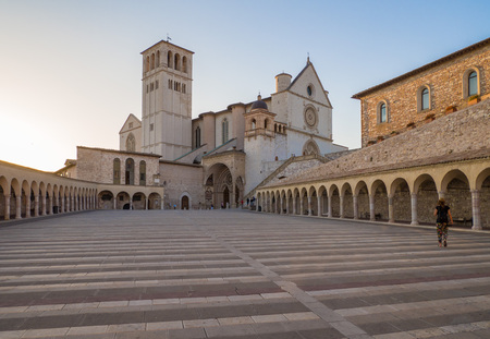 of assisi: Assisi, Umbria (Italy) - The awesome medieval stone town in Umbria region, with the castle and the famous Saint Francis sanctuary.