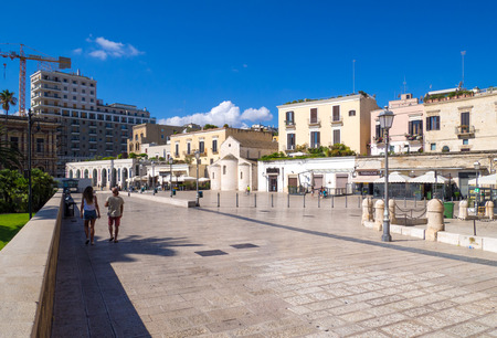 Bari, Italy - 14 August 2017 - The capital of the Apulia region, a big city on the Adriatic sea, with the historic center named Bari Vecchia and the famous waterfront