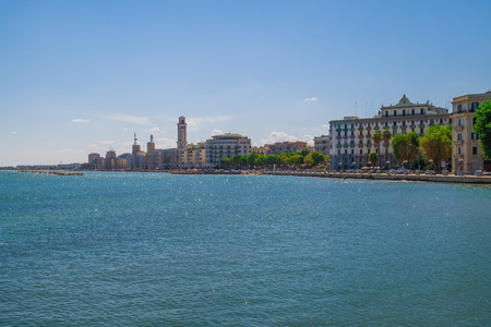 Bari, Italy - The capital of the Apulia region, a large city on the Adriatic sea, with the historic center named Bari Vecchia and the famous waterfront