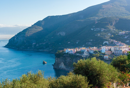 Vico Equense (Naples, Campania) - A touristic town on the sea in southern Italy Stock Photo