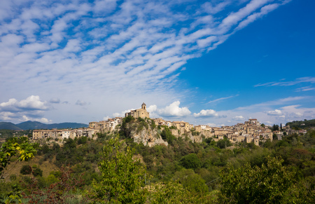 Toffia, Italy - A very little and sweet medieval village in province of Rieti, Lazio region, central Italy Stock Photo