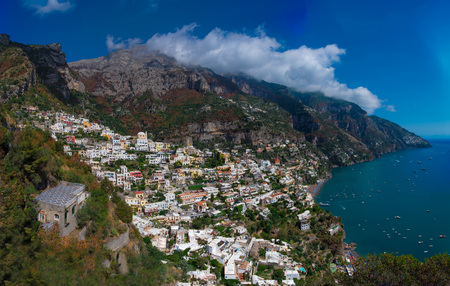Positano (Campania, Italy) - A very famous touristic summer town on the sea in southern Italy, province of Salerno, Amalfi Coast
