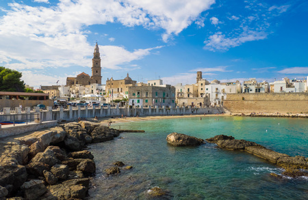 Monopoli (Italy) - A white city on the the sea with port, province of Bari, Apulia region, southern Italy Фото со стока