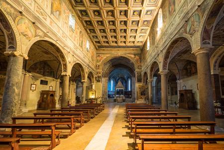 Farfa, Italy - 11 November 2017 - The Farfa Abbey, famous Benedictine Catholic monastery in Rieti province, central Italy