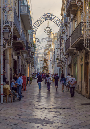 Altamura, Italy - 12 August 2017 - The historic center of the big city in province of Bari, Apulia region, southern Italy Editorial