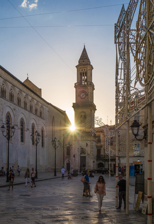dome of the rock: Altamura, Italy - 12 August 2017 - The historic center of the big city in province of Bari, Apulia region, southern Italy Editorial