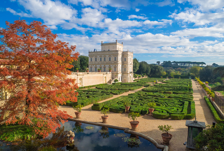 Rome, Italy - 12 November 2017 - Villa Doria Pamphili, a seventeenth-century villa with what is today the largest landscaped public park in Rome, Italy. It is located on the Gianicolo hill. Editorial