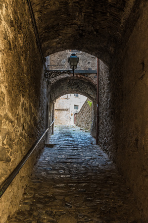 Bolsena (Italy) - The medieval town with castle on Bolsena Lake, Lazio region, central Italy