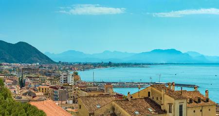 Salerno, Italy - 16 September 2017 - The historic center of the big city on Tirreno sea, Campania region, southern Italy.
