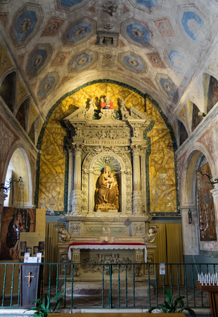 Martina Franca, Italy - 27 September 2017 - The elegant historic center of a white city in province of Taranto, Apulia region, southern Italy.