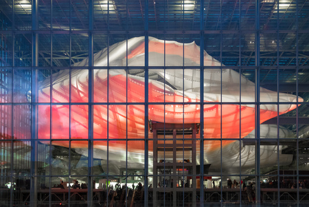 Rome, Italy - 8 December 2017 - The new congress center in Rome in the EUR district, designed by the architect Fuksas, called La Nuvola.
