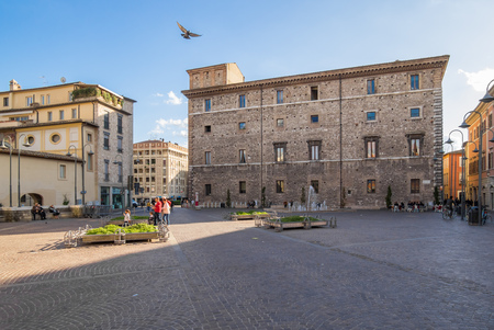 Terni, Italy - 8 October 2017 - The historic center of Terni, the second biggest city of Umbria region, central Italy.