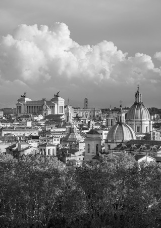 Rome (Italy) - The cityscape from Castel Sant'Angelo monument, a castle beside Saint Peter in Vatican Stock Photo