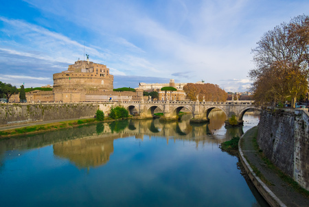 Rome (Italy) - The Castel SantAngelo monument, a castle beside Saint Peter in Vatican Editorial