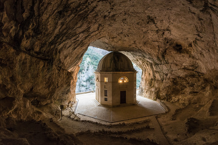 Temple of Valadier (Italy) - The awesome stone sanctuary in Genga municipal, Marche region, beside Frasassi caves