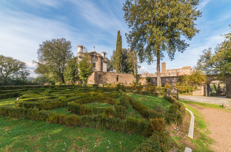 Sutri, Italy - 27 January 2018 - A medieval village of Tuscia area with a fascinating archaeological site dating back to the Roman Empire Editorial