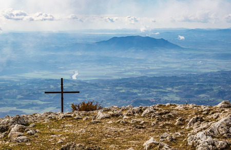 Monti Sabini (Rieti, Italy) - The snow-capped mountains in the province of Rieti, Sabina area, near Monte Terminillo and the Tiber river
