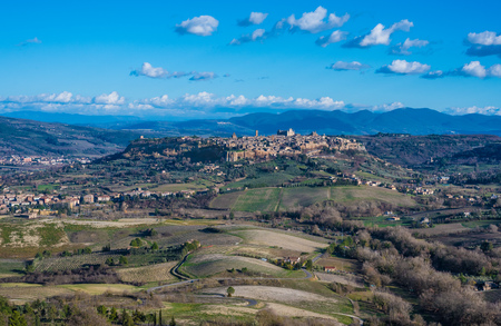 Orvieto (Italy) - The beautiful etruscan and medieval town in Umbria region, central Italy, with nice historic center.