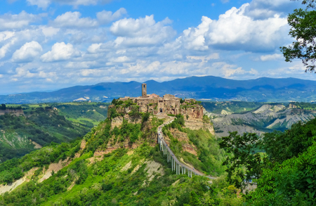 Civita di Bagnoregio (Viterbo, Lazio), central Italy - The famous ancient village on the hill between the badlands, in the Lazio region, central Italy, known as The town that is dying