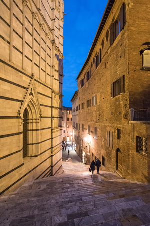 Siena (Italy) - The wonderful historic center of the famous city in Tuscany region, central italy Stock Photo