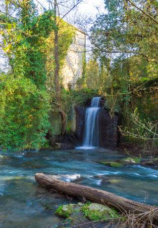Waterfalls of Monte Gelato in the Regional park of Valle del Treja (Mazzano Romano, province of Rome, Italy)