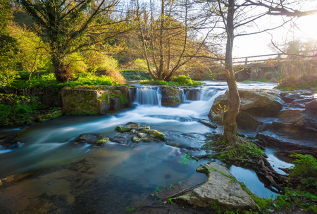 Waterfalls of Monte Gelato in the Regional park of Valle del Treja (Mazzano Romano, province of Rome, Italy)