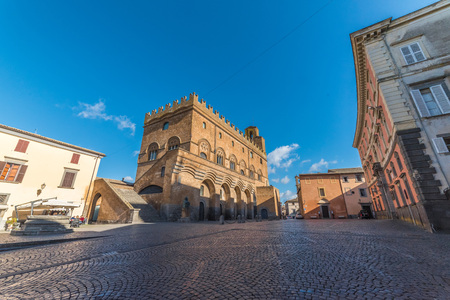 Orvieto, Italy - 21 January 2018 - The historic center of the awesome etruscan and medieval town in Umbria region. Editorial