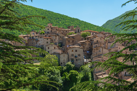 Scanno (Abruzzo, Italy) - The medieval village of Scanno, plunged over a thousand meters in the mountain range of the Abruzzi Apennines, province of LAquila