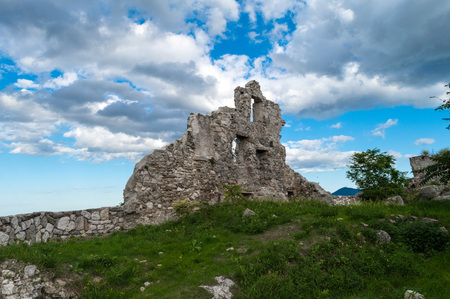 Gessopalena (Abruzzo, Italy) - In the Gessopalena town there is a public archeological site of the old medieval village in gypsum stone, now destroyed, with the suggestive view of Majella mountains.