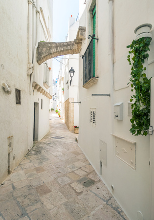 Locorotondo (Puglia, Italy) - The gorgeous white town in province of Bari, chosen among the top 10 most beautiful villages in Southern Italy. Here a view of historic center. Stock Photo