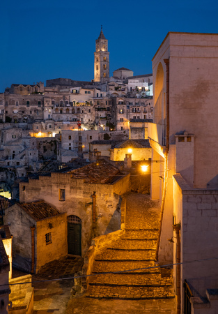 Matera (Basilicata) - The historic center of the wonderful stone city of southern Italy, a tourist attraction for the famous Sassi old town.