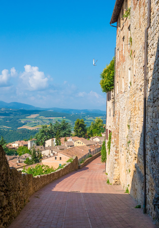 Todi (Umbria, Italy) - The suggestive medieval town of Umbria region, in a summer sunday morning.