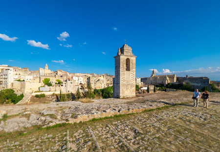 Gravina in Puglia, Italy - 8 September 2018 - The suggestive old city in stone like Matera, in province of Bari, Apulia region. Here a view of the historic center.