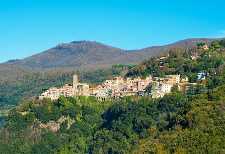 Nemi (Italy) - A nice little town in the metropolitan city of Rome, on the hill overlooking the Lake Nemi, a volcanic crater lake.