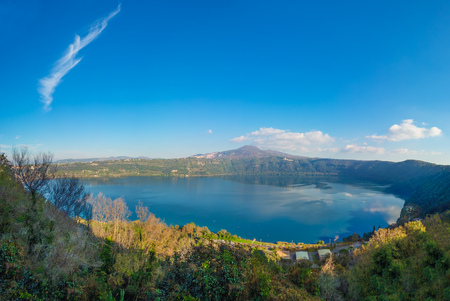Castel Gandolfo (Italy) - A suggestive little town in metropolitan city of Rome, on the Albano Lake Stock fotó