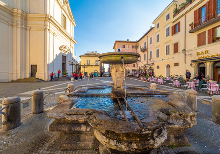 Castel Gandolfo, Italy - 11 November 2018 - A suggestive little town in metropolitan city of Rome, on the Albano Lake, famous for being the Popes summer residence. Here a view of historic center. Editorial