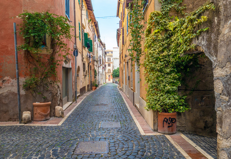 Monterotondo (Italy) - A city in metropolitan area of Rome, on the Sabina countryside hills. Here a view of nice historical center.
