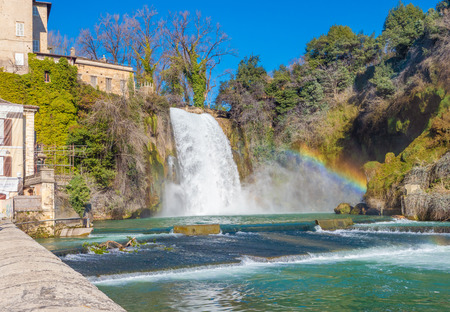 Isola del Liri (Italy) - A little medieval city in province of Frosinone, Lazio region, famous per del waterfalls in the historical center, built on a island of Liri river