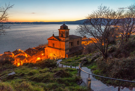 Trevignano Romano (Italy) - A nice medieval town on Bracciano lake, province of Rome, Lazio region, here at sunset