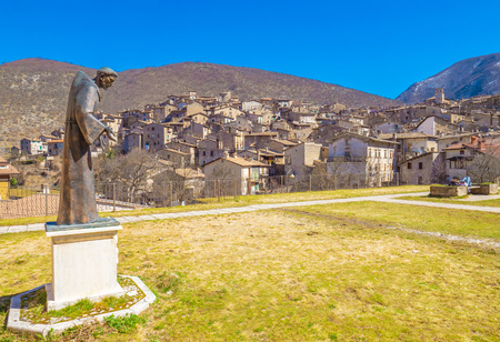 Scanno (Abruzzo, Italy) - The medieval village of Scanno, plunged over a thousand meters in the mountain range of the Abruzzi Apennines, province of LAquila, with famous heart - shaped lake