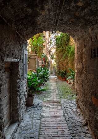 Anagni, Italy - 17 February 2019 - A little medieval city in province of Frosinone, famous to be the