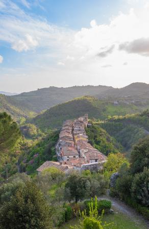 Montenero Sabino (Rieti, Italy) - A very small and charming medieval village in stone with castle, on the Rieti hills, Sabina area, Lazio region, central Italy