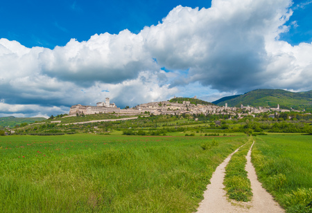 Assisi, Umbria (Italy) - The awesome medieval stone town in Umbria region, with the famous Saint Francis sanctuary.