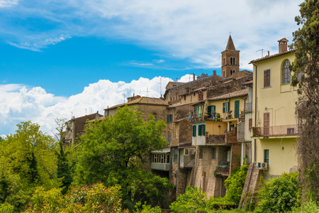 Torri in Sabina (Italia) - Un piccolo borgo medievale nel cuore della Sabina, regione Lazio, durante la primavera