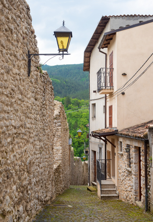 Assergi (Abruzzo, Italy) - A small charming medieval village surrounded by stone walls, in the municipality of LAquila, under the Gran Sasso mountain, now abandoned after the earthquake Reklamní fotografie